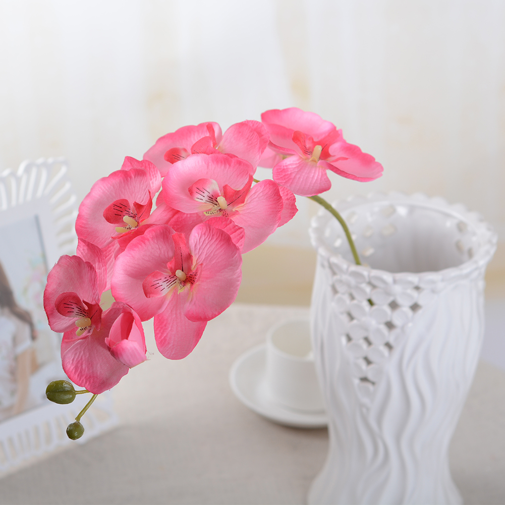 Artificial-Fake-Butterfly-Orchid-Flower-Bouquet-Phalaenopsis-Wedding-Home-Decor