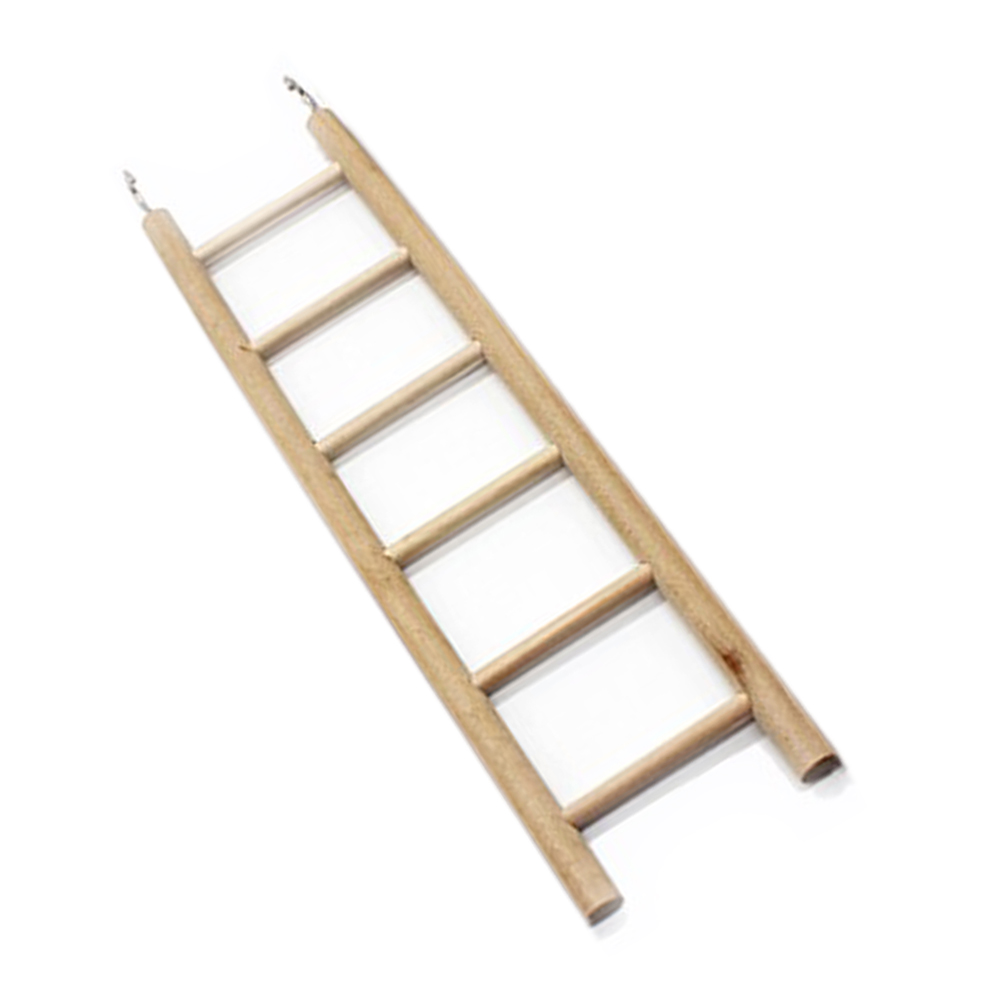 New Bird Wooden Ladder Perch Climbing Cockatiel Parakeet Budgie Parrot Pet Toys