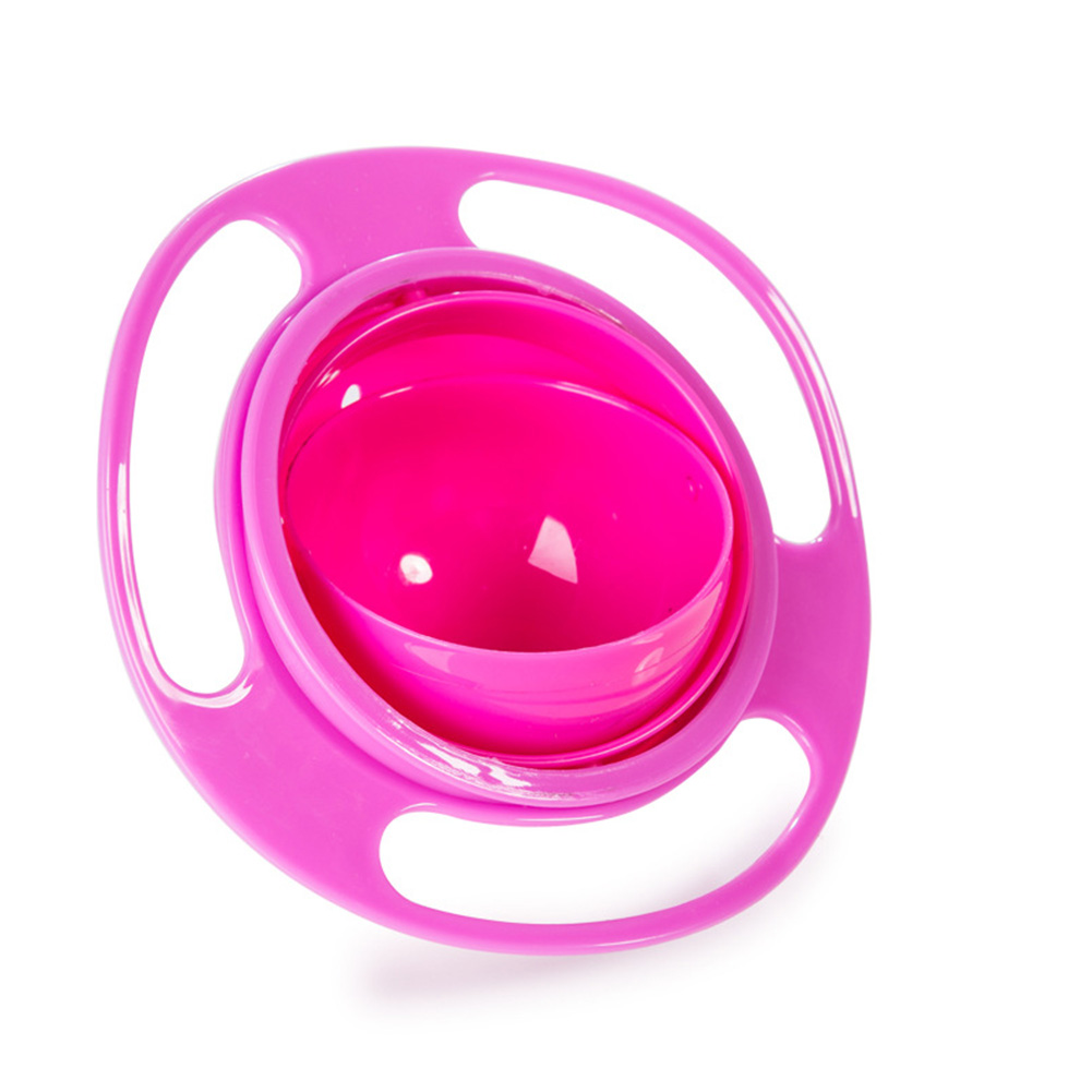 Baby-Non-Spill-Bowl-Schuessel-Snackschuessel-Feeding-360-Rotating-fuer-Kinder
