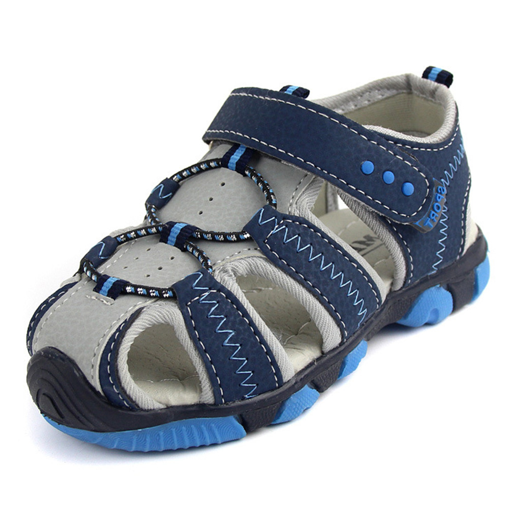 1 Pair Casual Children Kids Shoes Baby Boy Closed Toe Summer Beach Sandals Flat